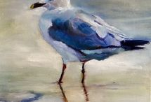 Seagulls / Birds of the beach to paint