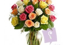 24 Assorted Roses in a Vase