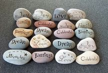 Stones / Painted stones and pebbles.