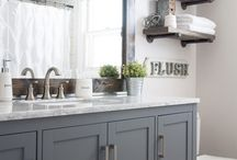 Mom's Bathroom Remodel / Farmhouse bathroom inspiration for Mom's remodel