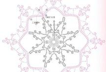Crochet doylies Virkkattuja liinoja / Virkattujen liinojen malleja ja diagrammeja