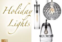 Holiday Lights / There's no easier way to transform a space than with a unique and well-placed lamp. Shop Sawbridge Studios to find the perfect lighting to brighten your home for the holidays.