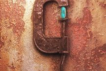 Rusted metal future art