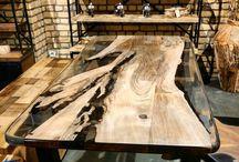 Fantastic wood and stone design