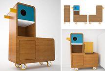 kids furniture, lighting, storage / by E-GLUE STUDIO