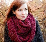 Huiviunelmia / Single color scarves & shawls