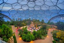 Greenhouses and tropical gardens around the world
