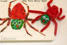 Cuentos - Otros (Crafts) / Manualidades, fichas, colorar de diversos cuentos como Elmer, The Grufalo, Otros cuentos de Eric Carle...