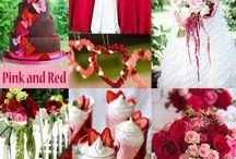 Trouwen rood roze