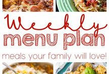 Family Meal Plan / Dinner doesn't have to be hard!  A meal plan is essential for getting dinner on the table! / by Tanya Schroeder @lemonsforlulu.com