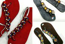 Lederen/Suede sandalen