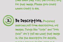 Pinterest etiquette / Pinterest etiquette