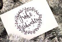 Weihnachtskarten Lettering