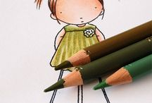 Colouring with Pencil Crayons & Markers