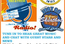 We are on the radio Astra 97.3 fm Skiathos / Come and join us for Music and news from in and around Skiathos today.