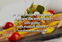 ALIMENTATION HYPOTOXIQUE, sans gluten, sans produits laitiers / Programme santé 21 jours : Apprenez à diminuer l'inflammation grâce à l'adoption d'une alimentation hypotoxique sans gluten, sans produits laitiers, etc.