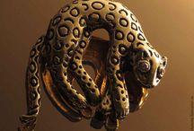 Брошь винтажная Леопард