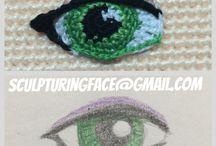 amigurumi göz