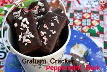Graham cracker peppermint bars