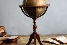 Globe-trotting. / Globes.