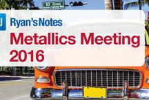 Metallics Meeting 2016 / Graphic design for the CRU Events conference Metallics Meeting 2016