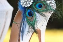 Peacock Wedding Theme / Gorgeous styles and colors for a peacock, or peacock feather themed wedding scheme, in blue, green, teal, purple, gold and black (or other shades).