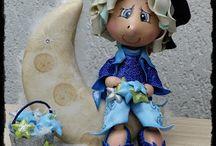 bonecas em eva da fabi