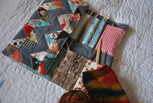 A whole page of knitting needle rolls