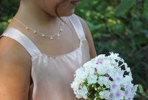Flower Girl Jewelry / We love designing and creating jewelry for little girls. Our designs are sweet and will grow with them. We can also personalize pieces with I it's, birthstones, names, and dates.