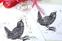 Lino Prints and Stamps Inspiration