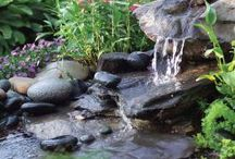 Featuring Water Features! / Waterfalls, ponds, container ponds, streams, gurglers, fountains, natural stone, water feature, backyard, gardening