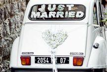 Déco pour mariage sur 2cv