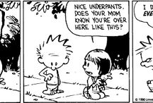 "The Wonderful World of 'Calvin & Hobbes' / ""In my opinion, we don't devote nearly enough scientific research to finding a cure for jerks.""  ~Calvin / by Melody Edwards"