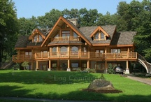 Log Homes / My dream of living in a log home in the woods with a mountain view....peace. / by Mary Mills