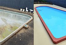 Swimming Pool Renovations & Resurfacing / Swimming pool painting and renovations before and after.