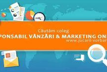 Cautam coleg: Responsabil vanzari si marketing online / Cautam coleg: Responsabil vanzari si marketing online - Te asteptam in echipa noastra! Trimite-ne CV-ul pe laurahardalau@gmail.com