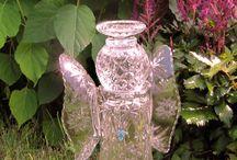 Upcycled glassware