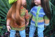 svetry -pletení na panenky