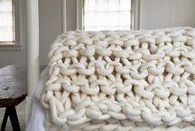 oversize knit blanket