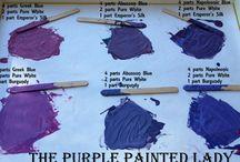 chalk paint colour mixes