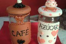 Frascos y botellas decoradas
