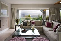 project : LAKE DISTRICT / A new build holiday retreat with captivating views across the rolling hills of the Lake District. Injecting the house with vibrant colour was a key part of our client's brief and reflected their desire for a happy family home | Luxury interior design