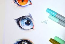Drawings with diffrent and special colors :>