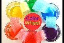 Food dye rainbow / Science art