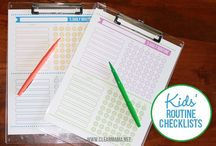 Parenting / Daily task checklists
