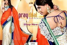 Bridal Sarees Online Shopping - Online Shopping for Women Sarees / Shop Online our Latest Collection on Sarees, Lehangas, Bollywood Frock Suits only on www.praydeal.com