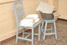 Chaise et tabouret Rochefoucauld