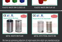 Hospital Waste Bin Suppliers / Hospital Waste Bins: DESCO, an India based dustbin manufacturing company, came with the concept of hospital waste bins with frame in order to have a better hygienic principal in the hospitals arena