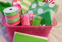 Hot pink and lime green