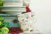 Vintage China / Ideas for using vintage china at weddings and events.